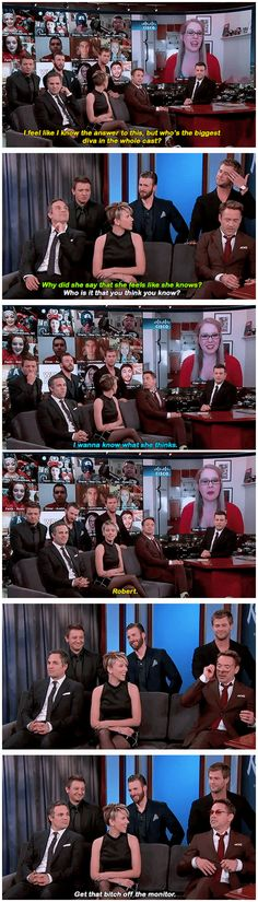 You're right! RDJ is the biggest diva in the whole cast! xD