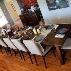 Large Farmhouse Kitchen Table And Chairs