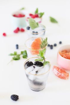 For Brunch // Fruit & Herb Infused Water