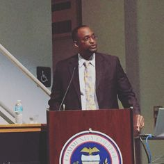 #CCAC Allegheny President Dr. Elon Walters introduces speaker Robert Mill at the CCAC Then & Now presentation. #CCAC50