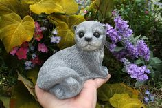 Baby Otter Art Sculpture  Woodland Garden by PhenomeGNOME on Etsy