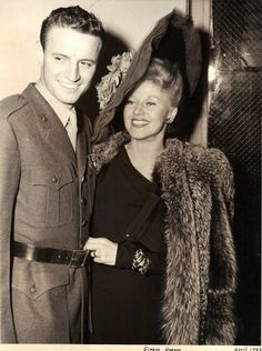 Ginger Rogers with her third husband Jack Briggs