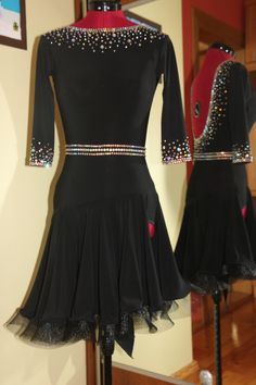 Beautiful Latin Ballroom Dance Dress s M | eBay