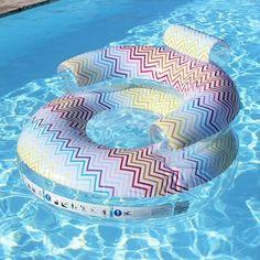 Fauteuil gonflable piscine Zig Zag #idée #cadeau #gift #papa #homme…