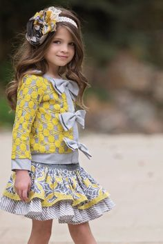Persnickety Clothing October Sky Edith Jacket in Yellow Fall 2014 Girls Fall Outfits, Little Girl Outfits, Cute Outfits For Kids, Little Girl Fashion, Girls Dresses, Little Fashionista, Girls Boutique, Boutique Clothing, Persnickety Clothing