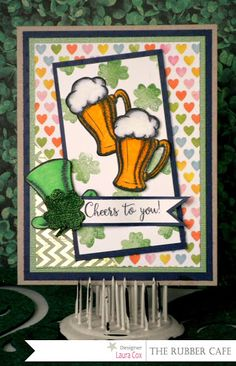 Happy St. Patty's! by @scrapaddict4lc for @therubbercafe using @bobunny #card #creativecafeKOTM #stamping