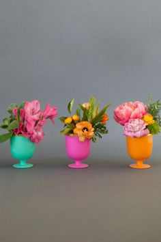 These Oh Joy goblets double as vases for summer blooms!