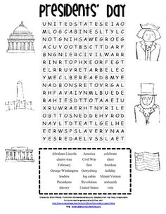 Looking for a cute Presidents' Day word search? This is a great morning work activity, literacy center, or a follow up activity after reading a boo...