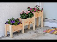 How to make a planter box. The complete tutorial and plans for the DIY tiered planter box are the perfect beginner woodworking project! Built with only $10 in lumber and under 2 hours, it is easy to add the perfect touch to your outdoor decor.