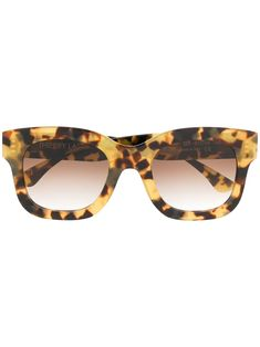 Shop Thierry Lasry Tortoiseshell Sunglasses In Neutrals from stores. Brown tortoiseshell sunglasses from Thierry Lasry featuring tinted lenses. Tortoise Shell Sunglasses, Lenses, Neutral, Women Wear, Products, Gadget