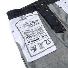 Pocket Bag - 3sixteen ST-100X Indigo Tapered Raw Denim Jeans