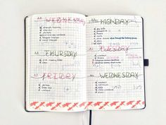 bullet journal daily, inspiration pages, nederland, boekje