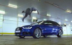 Freerunnerları sevdiğim su götürmez bir gerçek, araba hastası olduğumu söylemeye gerek bile görmüyorum! Audi yeni RS6 için eski Stig -Ben Collins- ve Damien Walters'i bir oyun oynamaları için bir araya getirdi. Oyun basit: içi boya...