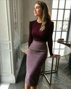 Business Casual Outfits, Office Outfits, Classy Outfits, Chic Outfits, Casual Pencil Skirt Outfits, Modest Work Outfits, Office Skirt Outfit, Pencil Skirt Dress, Pencil Skirt Work