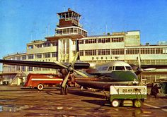 """This is a poor scan of a very old post-card that I found in a Radio Amateur Club. I think it is a """"John Hind"""" post-card. Raf Bases, Commercial Plane, Dublin Airport, Civil Aviation, Old Photos, Liverpool, Big Ben, Ireland, Aircraft"""