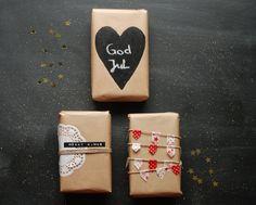 Hübsche Geschenkverpackung für die Weihnachtszeit.
