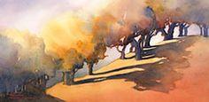 Watercolor landscape paintings - landscape prints - Maud Durland