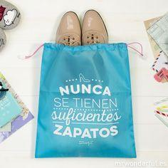 Bolsas viajeras: Nunca se tienen suficientes zapatos #mrwonderful #polyester  #bags #pack #trip