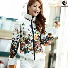 34.99$  Buy now - https://alitems.com/g/1e8d114494b01f4c715516525dc3e8/?i=5&ulp=https%3A%2F%2Fwww.aliexpress.com%2Fitem%2FHUOX-Elegant-Stand-Collar-Print-Women-Overcoat-2016-Female-Slim-Short-Cotton-Padded-Coat-Korean-Style%2F32735424965.html - HUOX Elegant Stand Collar Print Women Overcoat 2016 Female Slim Short Cotton Padded Coat Korean Style Autumn Winter Jacket