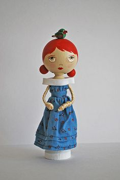 Lucy peg doll by Pretty Ditty, via Flickr