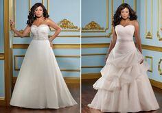 Vestido tubo com decote coração. Vestidos de noivas para gordinhas: fotos e um guia imperdível para parecer mais magra!