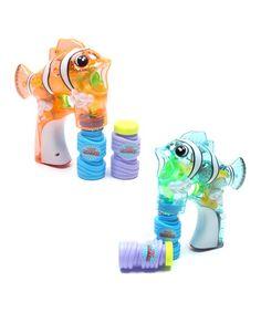 Look what I found on #zulily! Blue & Orange Clownfish Bubble Gun #zulilyfinds