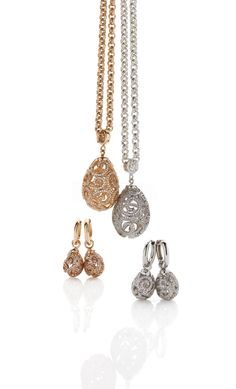 Imperial medium Pendant and Ear Charms, available in Silver, Gold plated & Rose Gold Plated Faberge Eggs, Rose Gold Plates, Fashion Jewelry, Charmed, Drop Earrings, Diamond, Pendant, Silver, Autumn