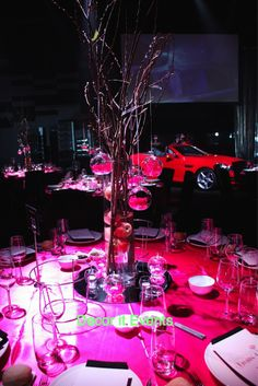 Red apples, Hot pink rose petals, willow centerpieces with hot pink table linen. #eventdecoration #centerpieces #willowcenterpiece #linenhire #atlanticgroupv #charityballcenterpiece #tablescape #centerpieces #decoritevents www.decorit.com.au (54)