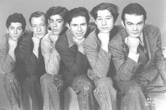 """The Dead End Kids"", who later became ""The Bowery Boys"". I loved watching their movies on TV back in the (Leo Gorcey as Terrence Aloysius ""Slip"" Mahoney Huntz Hall as Horace Debussy ""Sach"" Jones) Old Movie Stars, Classic Movie Stars, Classic Movies, Classic Hollywood, Old Hollywood, Leo Gorcey, The Bowery Boys, Celebrities Then And Now, Group Pictures"