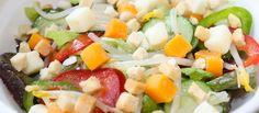 Ensalada estival. Si hay ensalada cada día, ¡yo el aliño le cambiaría! Salsas y Aliños para ensalada.