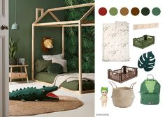 Childrens Jungle Bedrooms, Safari Kids Rooms, Boys Jungle Bedroom, Safari Theme Bedroom, Bedroom Themes, Diy Bedroom Decor, Safari Jungle, Jungle Room, Baby Bedroom