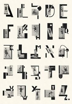 Abeceda - typeface by Karel Teige. Czech avant garde designer, typographer, founder of Devestil and cultural radicalist Karel Teige and his Abeceda -- a 1926 collaboration with poet Vitoslav Nezva which minimalised text down to its basic components establishing a poetic dialogue between text and images.