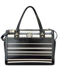 9168cb90613b Anne Klein Nautical Wave Stripe Duffle & Reviews - Handbags & Accessories -  Macy's