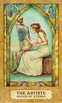 Belle Constantinne -  Queen of Stones - Coins - Chrysalis Tarot by Holly Sierra, Toney Brooks