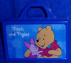 Pooh & Piglet School Supply Box or Small Lunch Box                E8
