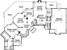 Level Drive thru Portico Garage   HOUSE PLANS   Pinterest    Plan DA  Elegant House Plan   Grand Entry Portico