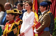 Queen Letizia of Spain attends a ceremony held in honour of the Spanish Guardia Civil at their headquarters, in Vitoria on May 13, 2015. (Spain's Queen Letizia delivered the national flag to the 11th National Teach Zone of the Civil Guard)