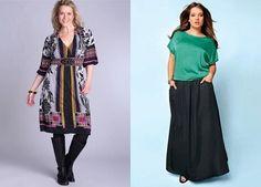 Платье ниже колена с яркой расцветкой в дополнении с сапогами, Длинная юбка и бирюзовая кофта, тандем выглядит как необычное платье