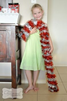 Large Tinsel Candy Cane tutorial