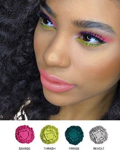 Pretty spring/summer look with Urban Decay's Electric Palette!
