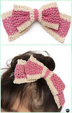 Crochet Silk Garden Hair Bow Free Pattern - Crochet Bow Free Patterns