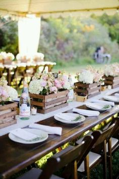 Rustic crate floral arrangements