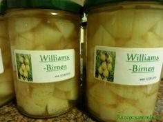Rezept: Einkochen:   WILLIAMS - BIRNEN - WÜRFEL