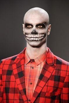 """Patricie Art's: Maquiagem masculina e feminina para o """"Dia de Los Muertos"""""""