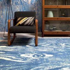 Wood Grain Blue rug