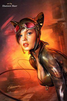 Cosplay Cat Woman Catwoman - Skin Tutorial - Batman - DC Comics by Shannon-Maer on - Ms Marvel, Marvel Dc Comics, Hero Marvel, Dc Comics Art, Dc Comics Girls, Batgirl, Batman Und Catwoman, Gotham Batman, Batman Art