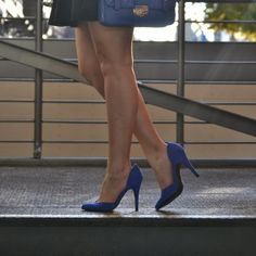 Cobalt blue heels and bag.  I like cobalt blue items.