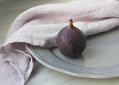 Soft linen napkins; Pudre purple linen for table decor Serwetki lniane obiadowe 2szt. Wrzos 55x55cm