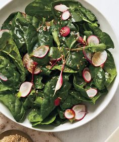 This no-cook, salad benefits from the crunch and texture of fresh spring spinach. Get the recipe for Spinach and Radish Salad With Sesame. Sesame Recipes, Radish Recipes, Salad Recipes, Cantaloupe Recipes, Drink Recipes, Great Recipes, Favorite Recipes, Simple Recipes, Fruits And Veggies