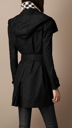 Can't wait to get my hands on this :-) Bring on the rain! Burberry Mid-Length Cotton Poplin Trench Coat